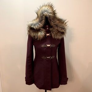 Ever New Women's Jacket with Faux Fur
